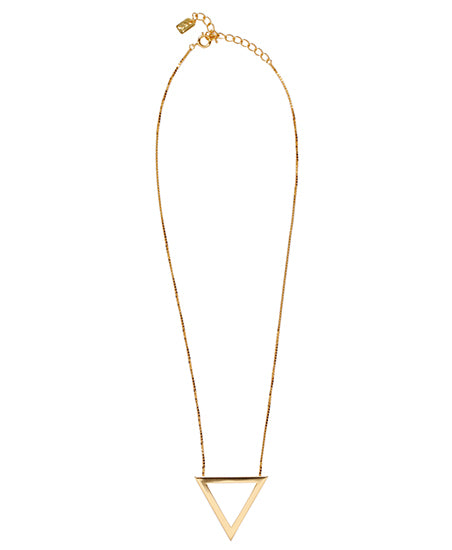 TRIANGLE NECKLACE / GOLD