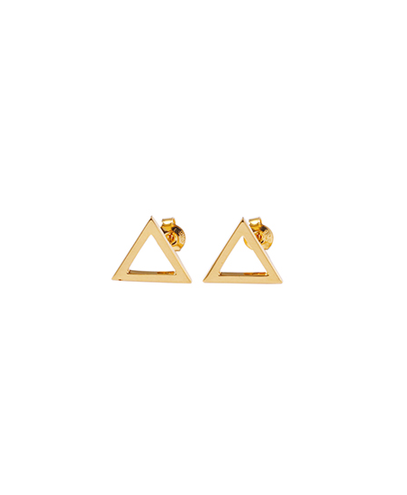 TRIANGLE PIERCE (PAIR) / GOLD