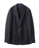 COTTON TWILL 1BUTTON JACKET / BLACK