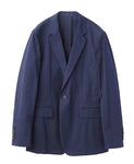 COTTON TWILL 1BUTTON JACKET / NAVY