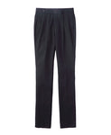 COTTON TWILL PLEATED PANTS / BLACK