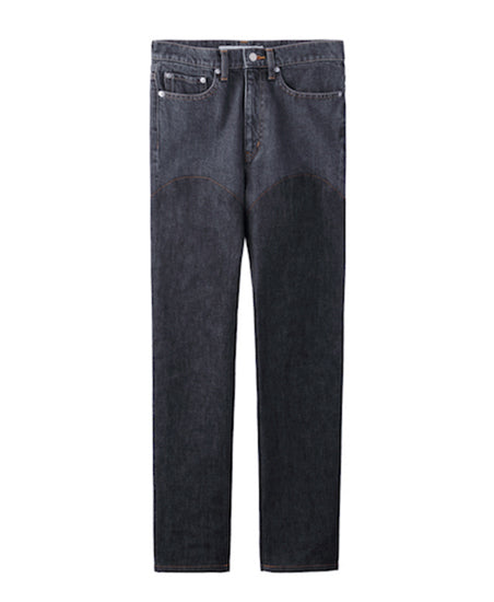 WOMENS DENIM & DENIM BI-COLOR PANTS / BLACK