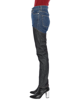 WOMENS DENIM & DENIM BI-COLOR PANTS / INDIGO