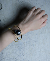 WOMENS  PEARL BANGLE  / GOLD
