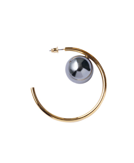 WOMENS  PEARL EARRINGS(L) / GOLD