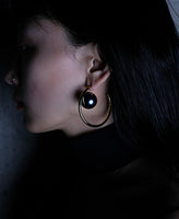WOMENS  PEARL EARRINGS(L) / SILVER