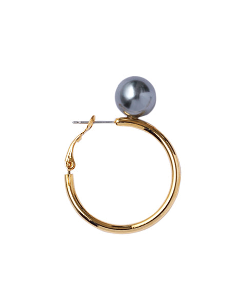 WOMENS PEARL EARRINGS(S) / GOLD