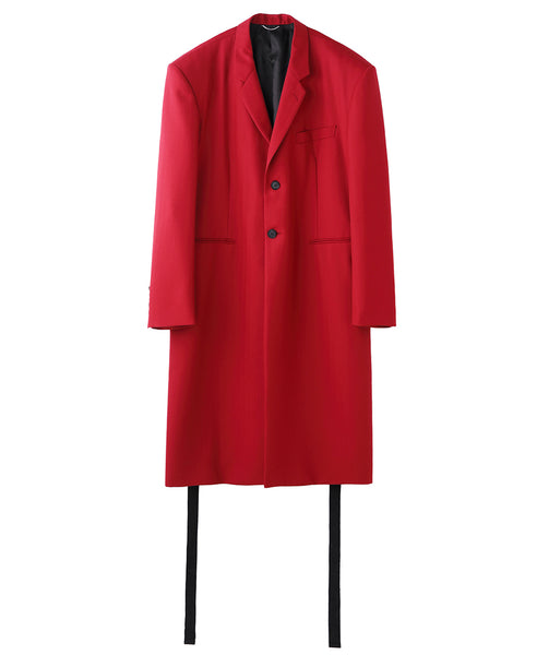 SIDE BUTTON SINGLE COAT / RED