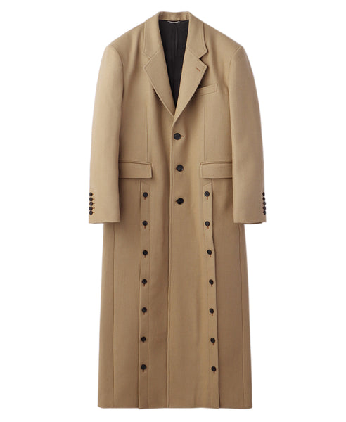 FRONT SIDE BUTTONED COAT / CAMEL