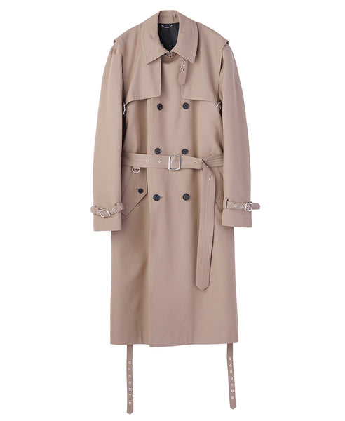 LAYERED TRENCH COAT / BEIGE