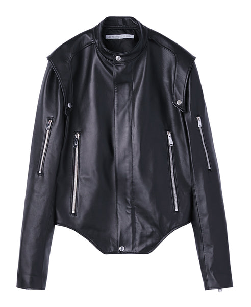LEATHER RIDER'S JACKET