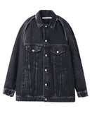 WOMENS BLEACHED DENIM DETACHABLE SLEEVE JACKET