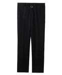 TUXEDO TROUSERS WITH BODY PIERCING JEWELRY / BLACK