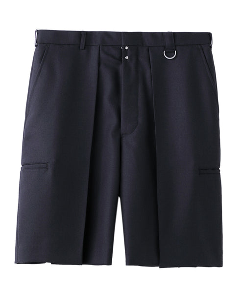 WIDE TUCK SHORTS / GREY