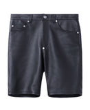 GRAIN LEATHER 5POCKET SHORTS