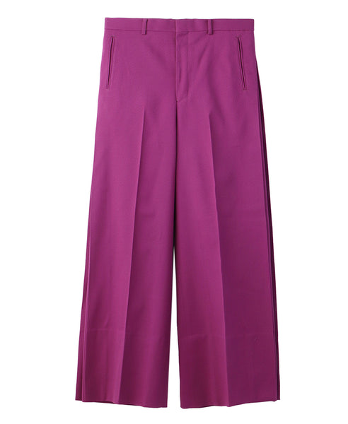 SIDE PLEATED WIDE TROUSERS / PINK