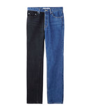 BI-COLOR DENIM PANTS