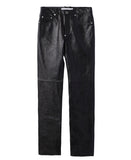 5POCKET LEATHER PANTS / CROCODILE