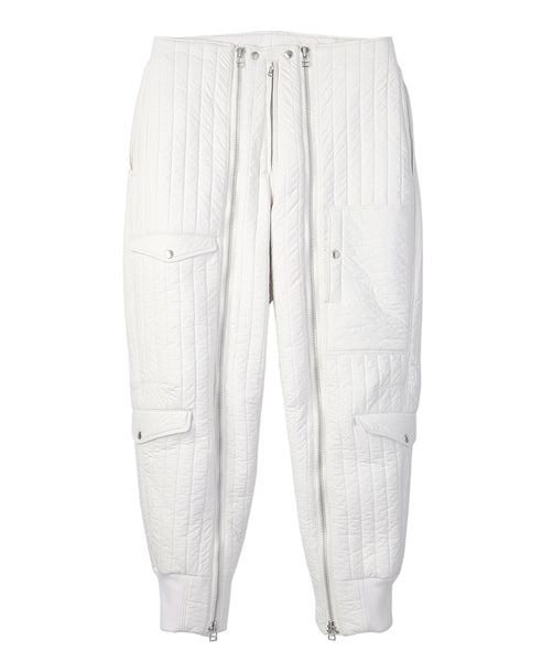 QUILT BOMBER PANTS / WHITE