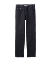 WASHED DENIM CENTER LINE PANTS / BLACK