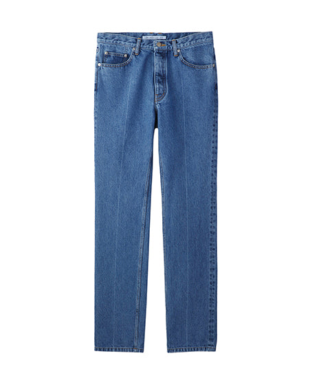 WASHED DENIM CENTER LINE PANTS / INDIGO