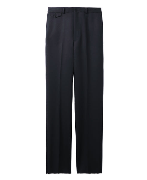 WOMENS WOOL STRAIGHT PANTS / BLACK