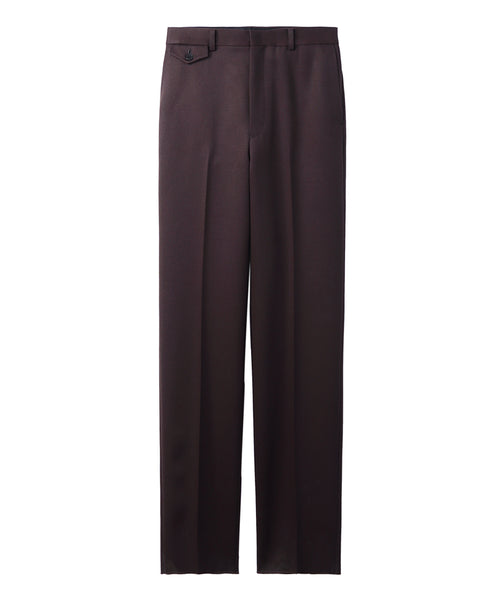 WOMENS WOOL STRAIGHT PANTS / BROWN