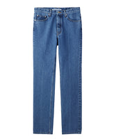 WOMENS WASHED DENIM CENTER LINE PANTS / INDIGO