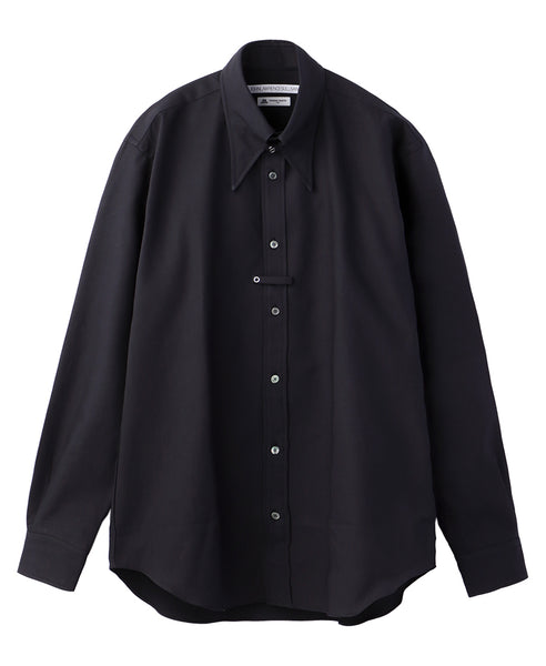 TAB COLLAR SHIRT / BLACK