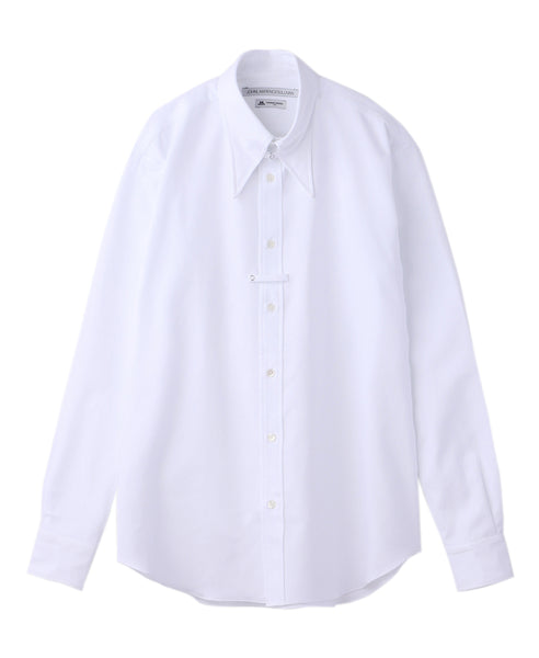 TAB COLLAR SHIRT / WHITE DOBBY