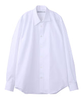 BROADCLOTH ASYMMETRY COLLAR SHIRT