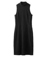 WOMENS SLEEVELESS DRESS / BLACK