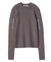 SHOULDER PAD KNIT SWEATER / BEIGE