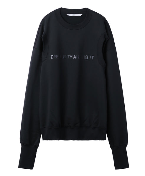 """DEEPER THAN NIGHT"" ARM HOLE PULLOVER / BLACK"