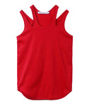 WOMENS DOUBLE SHOULDER TANK-TOP / RED