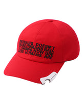 EMBROIDERED CAP WITH BOTTLE OPENER / RED