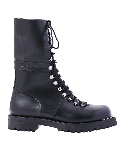 LEATHER COMBAT BOOTS / BLACK