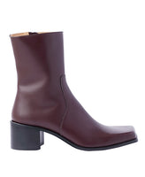 SQUARE TOE BOOTS / BROWN