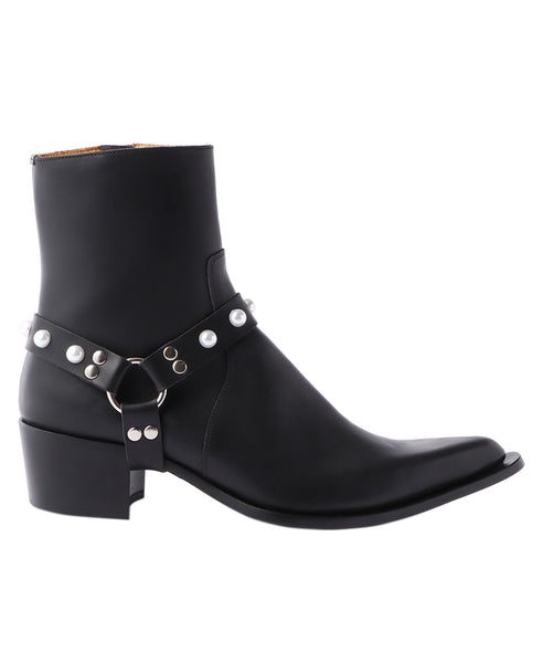 POINTED TOE BOOTS / BLACK