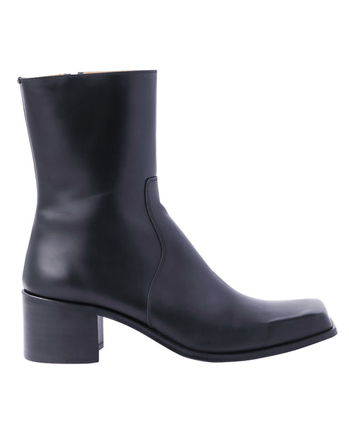SQUARE TOE BOOTS / BLACK