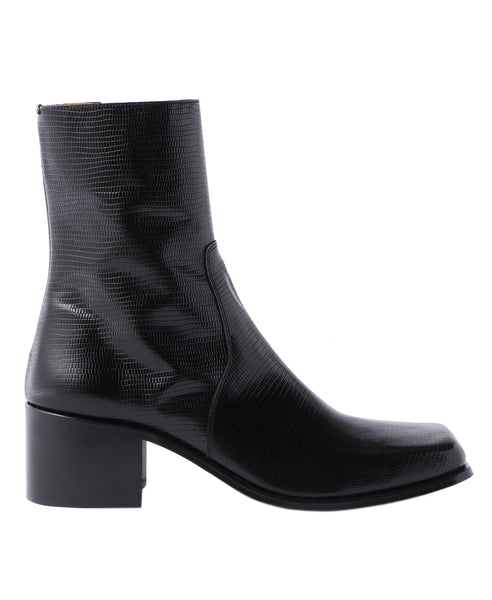 SQUARE TOE BOOTS / LIZARD