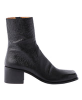 SQUARE TOE BOOTS / OSTRICH
