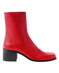SQUARE TOE BOOTS / RED