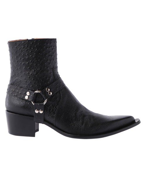 POINTED TOE BOOTS / OSTRICH