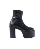 WOMENS LEATHER PLATFORM BOOTS