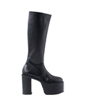 WOMENS LEATHER PLATFORM LONG BOOTS