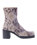 WOMENS PYTHON SQUARE TOE BOOTS