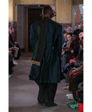 BACK SIDE TUCKED COAT / GREEN