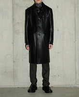 LEATHER CHESTERFIELD COAT