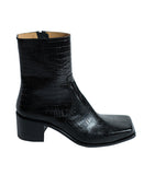 SQUARE TOE BOOTS / CROCODILE